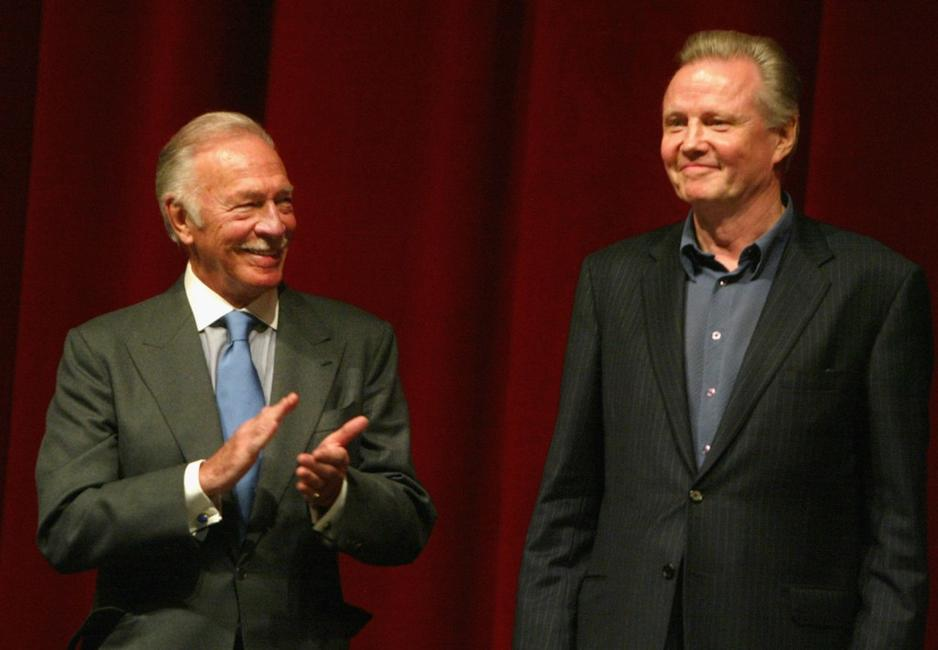 Christopher Plummer and Jon Voight at the Disney premiere of
