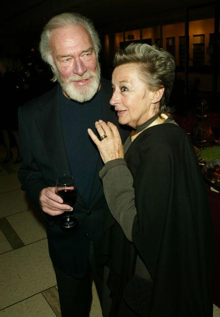 Christopher Plummer and Zoe Caldwell at the after party of