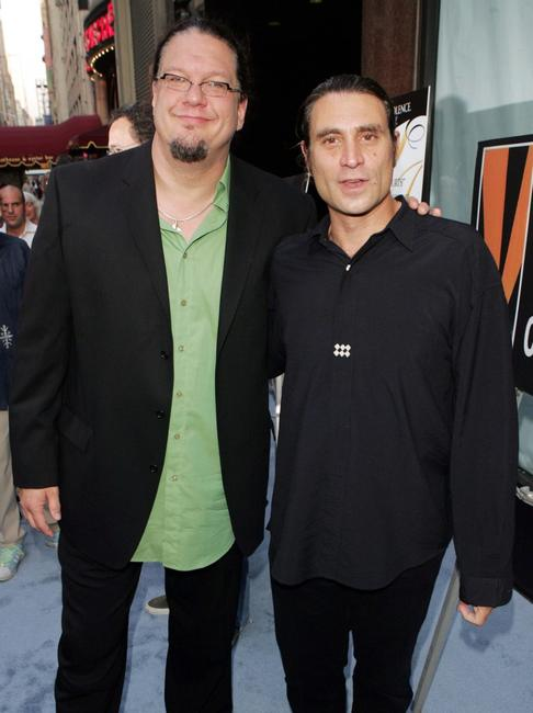 Penn Jillette and Paul Provenza at the premiere of