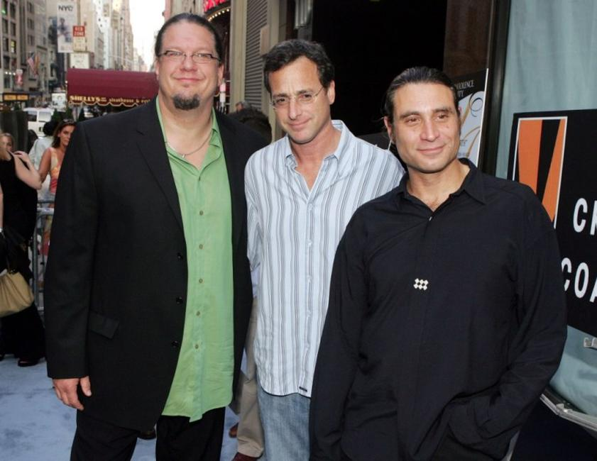 Penn Jillette, Bob Saget and Paul Provenza at the premiere of