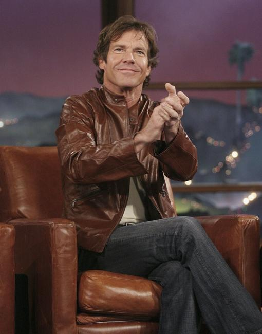 Dennis Quaid at the segment of The Late Late Show With Craig Ferguson.