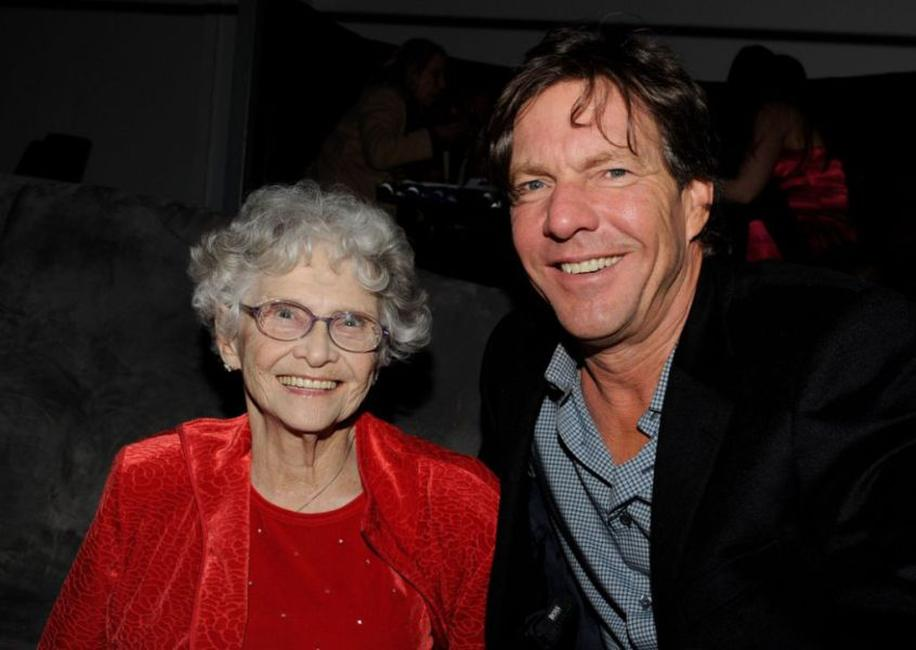 Jeanette Miller and Dennis Quaid at the California premiere of