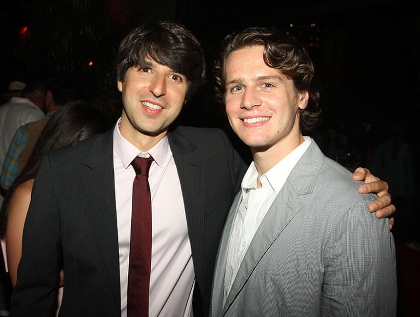 Demetri Martin and Jonathan Groff at the after party of the New York premiere of