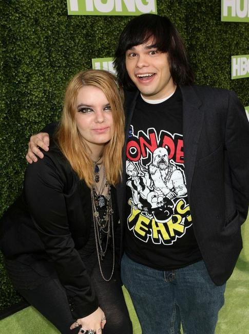 Sianoa Smit-McPhee and Charlie Saxton at the premiere of