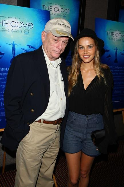 Ric O'Barry and Isabel Lucasa at the special screening of