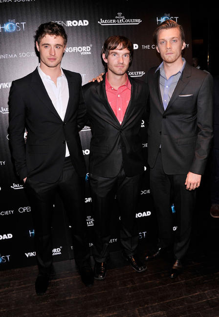 Max Irons, Lee Hardee and Jake Abel at the New York premiere of