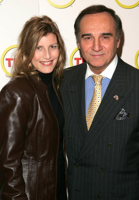 Tony Lo Bianco and Elizabeth at the premiere of