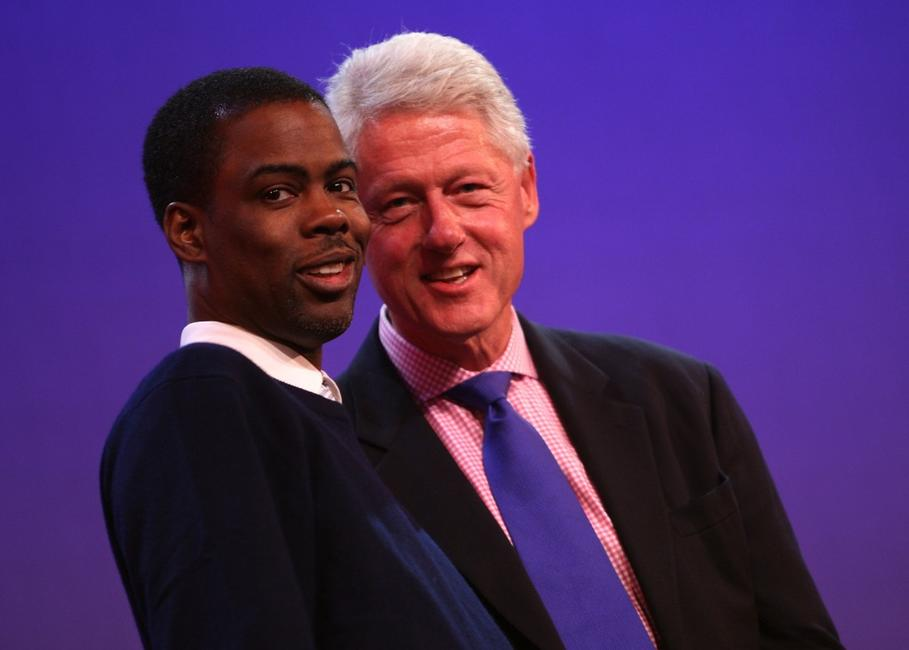Chris Rock and former President Bill Clinton at the
