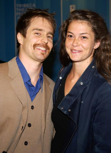 Sam Rockwell and guest at the Michael Schimmel Center for the Arts for the 1st Annual Tribeca Theater Festival Gala Opening Night.