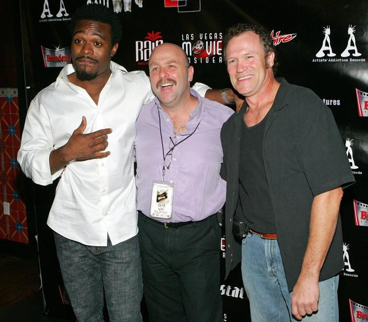Lyriq Bent, Producer Dan Heffner and Michael Rooker at the