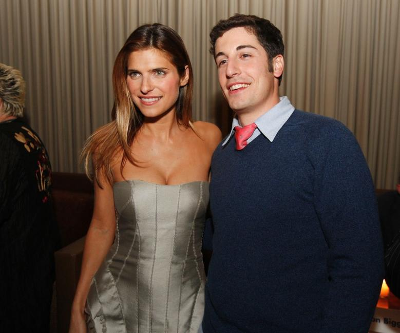 Jason Biggs and Lake Bell at the Los Angeles afterparty for the premiere of