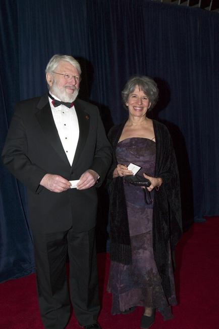 Theodore Bikel and Tamara Brooks at the 27th Annual Kennedy Center Honors.
