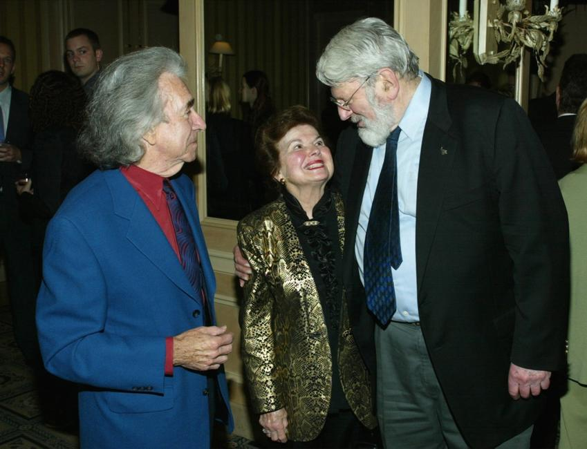 Theodore Bikel, Arthur Hiller with his wife at the inaugural of internationally televised programme