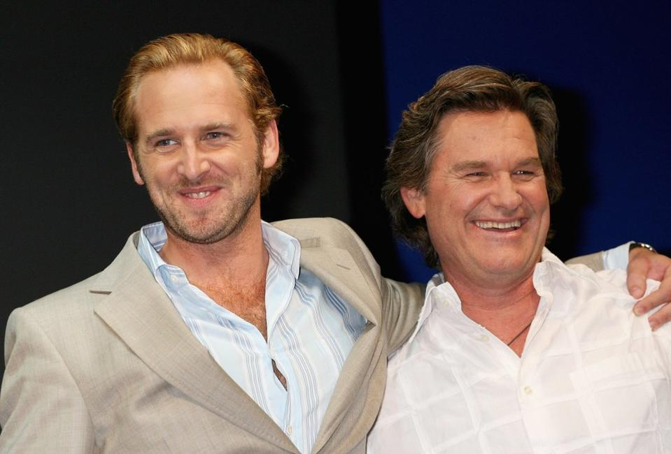 Kurt Russell and Josh Lucas at the press conference of Warner Bros. Pictures'
