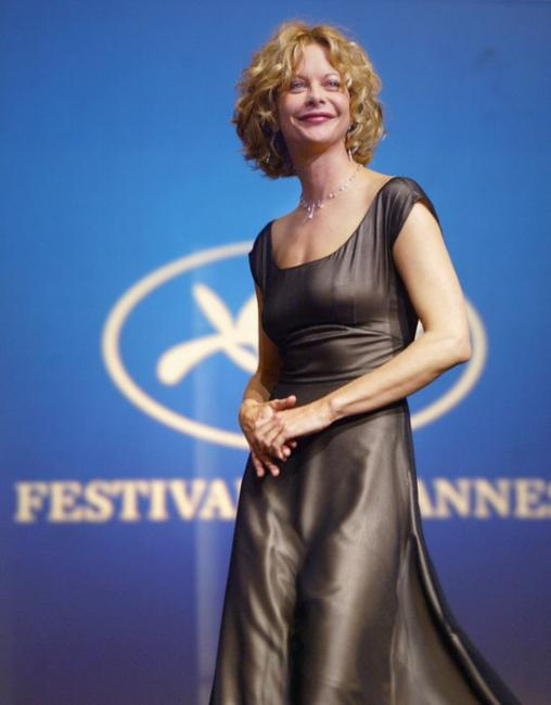 Meg Ryan at the Palais des festivals of the 56th Cannes film festival.