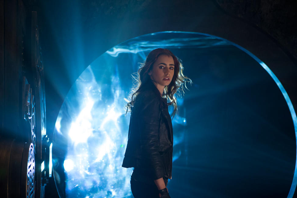 Lily Collins as Clary Fray in