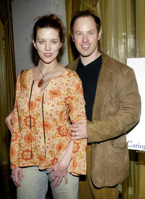 Raphael Sbarge and his wife, Lisa Akey at the 2002 Lullabies and Luxuries Fashion Event.