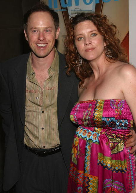 Raphael Sbarge and his wife Lisa Akey at the Conde Nast Traveler Hot List Party.