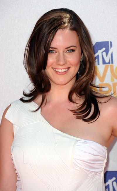 Katie Featherston at the 2010 MTV Movie Awards in California.