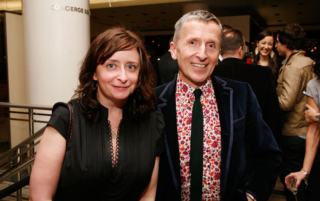 Rachel Dratch and Simon Doonan at the Barneys New York unveiling of the 2009 Holiday Window Celebrating 35 Years of SNL.