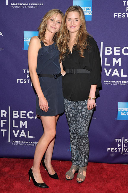 Kerry Bishe and Grace Gummer at the premiere of