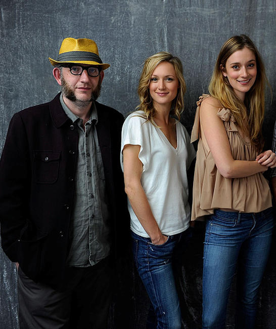 Max Baker, Kerry Bishe and Caitlin Fitzgerald at the portrait session of Tribeca Film Festival 2011 in New York.