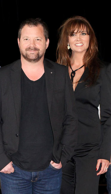 Director Alister Grierson and Alice Parkinson at the 2010 Melbourne Cup Launch in Australia.