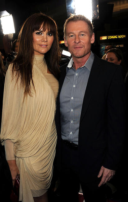 Alice Parkinson and Richard Roxburgh at the California premiere of