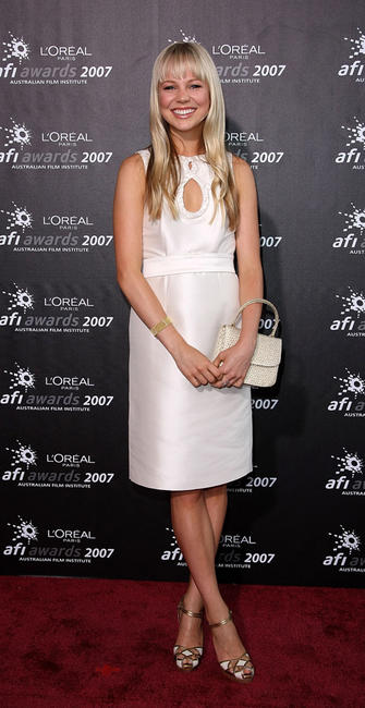 Adelaide Clemens at the L'Oreal Paris 2007 AFI Awards Dinner in Australia.