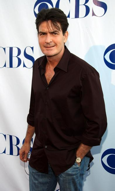 Charlie Sheen at the CBS Summer