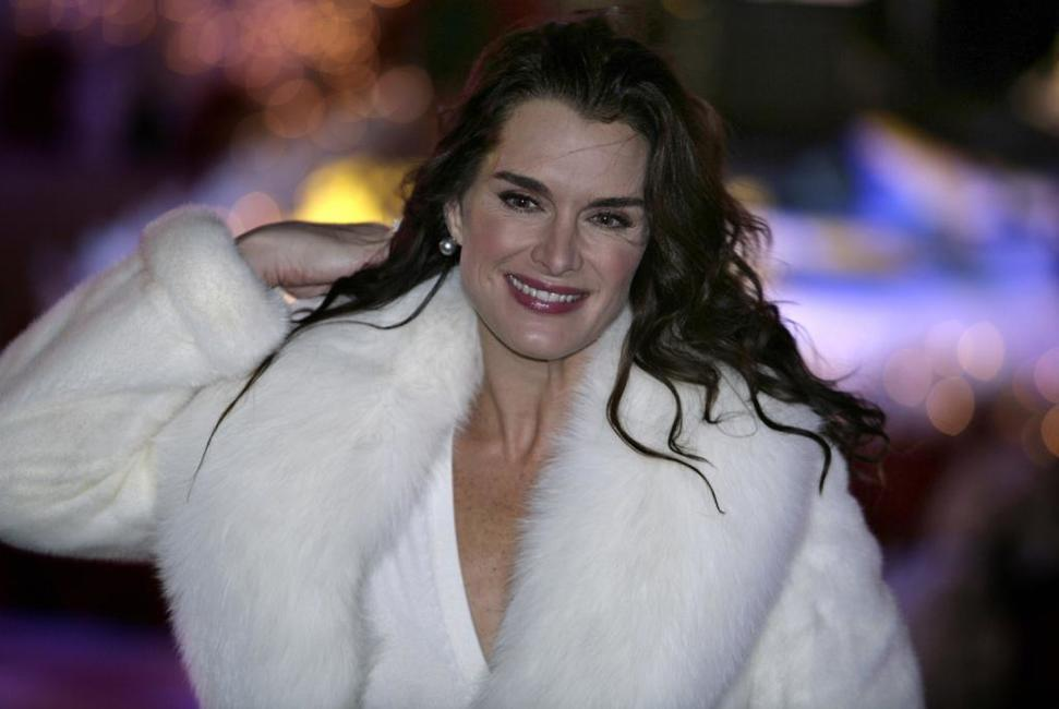 Brooke Shields at the 75th Rockefeller Center Christmas Tree Lighting Ceremony.