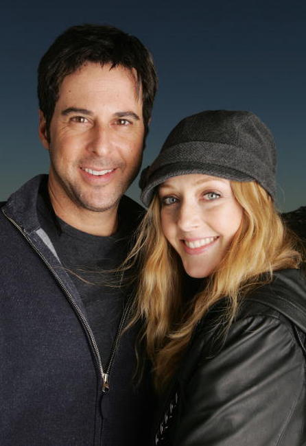 Jonathan Silverman and Jennifer Finnigan at the 2007 World Talent Style lounge held before the 64th Annual Golden Globe Awards.