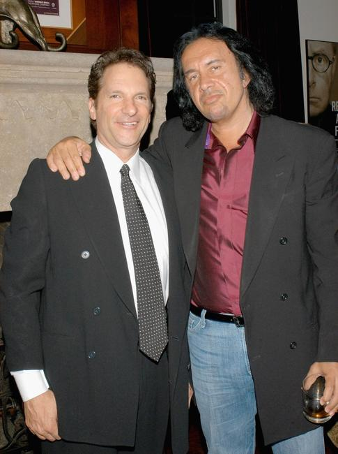 Producer Peter Guber and Gene Simmons at the Wesley Clark at Gubers.
