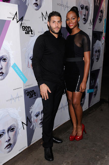 CEO of GenArt Marc Lotenberg and Tika Sumpter at the GenArt 14th Annual Fresh Faces In Fashion in New York.