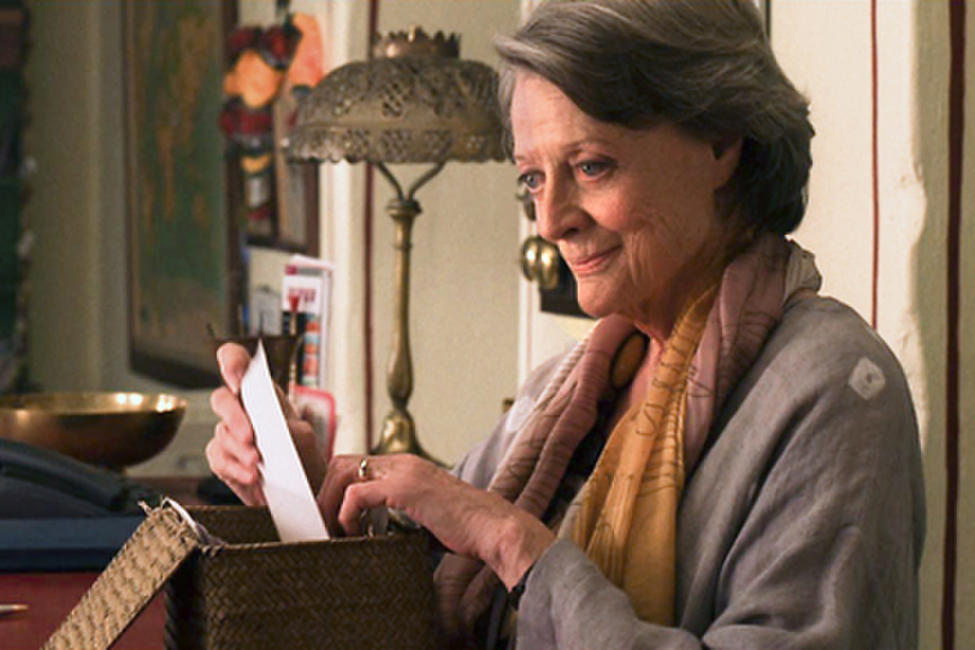 Maggie Smith as Muriel in ``The Best Exotic Marigold Hotel.''