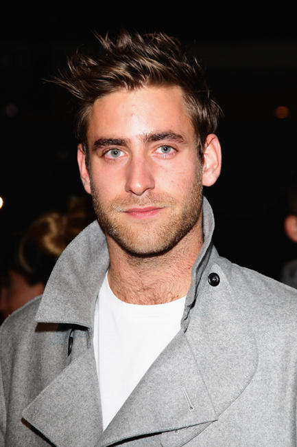 Oliver Jackson-Cohen at the Emporio Armani fashion show during the Milan Fashion Week Menswear Spring/Summer 2012 in Italy.
