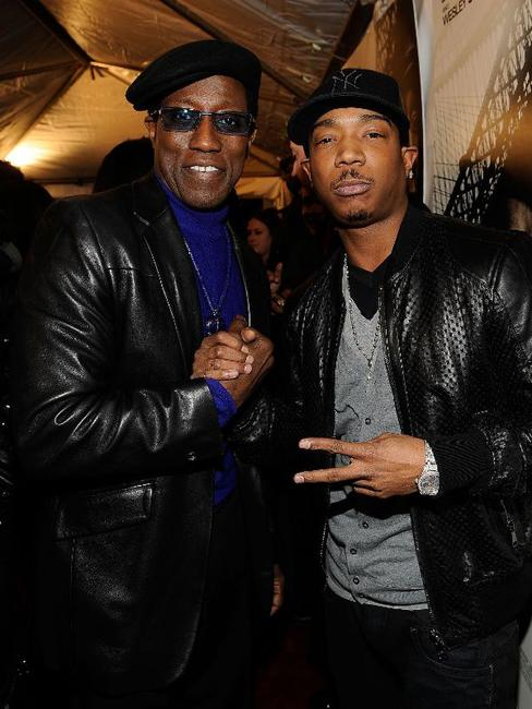 Wesley Snipes and Ja Rule at the New York premiere of