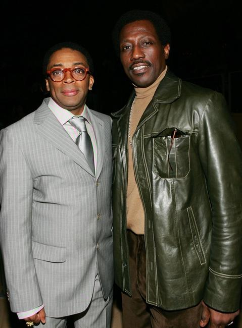 Wesley Snipes and Spike Lee at the