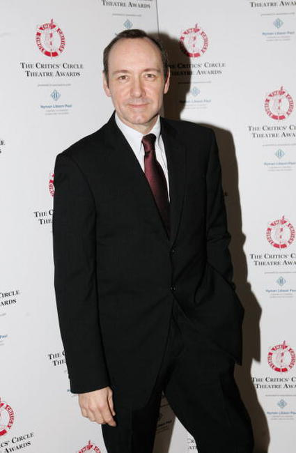 Kevin Spacey at The Critics' Circle Theatre Awards in London.