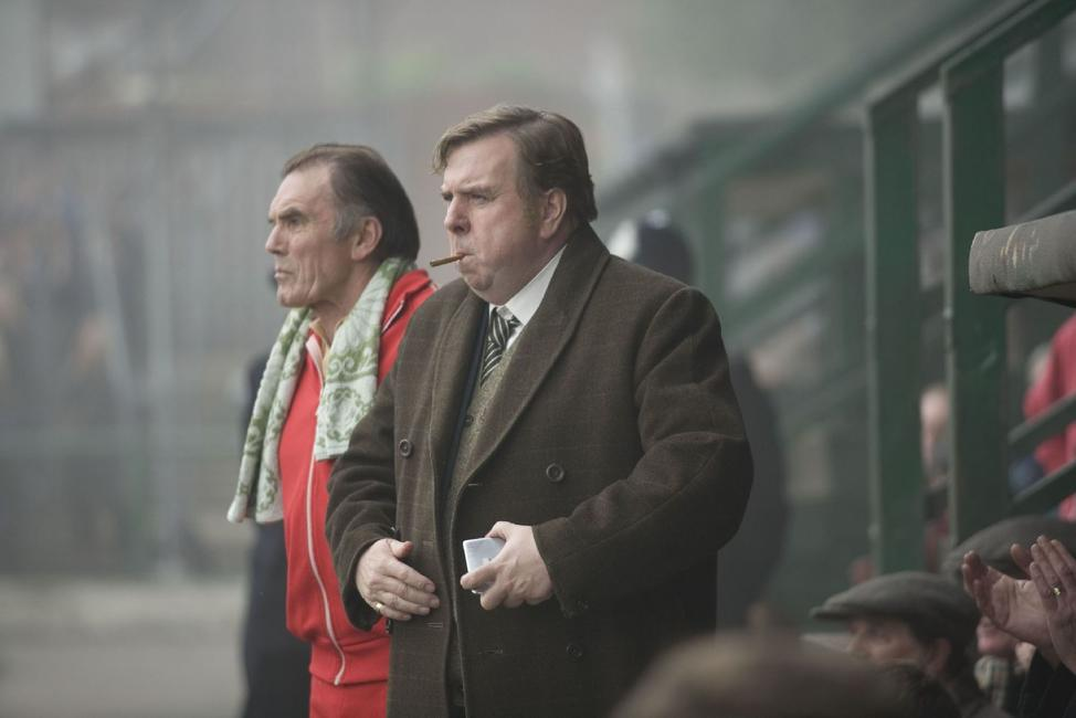 Maurice Roeves as Jimmy Gordon and Timothy Spall as Peter Taylor in