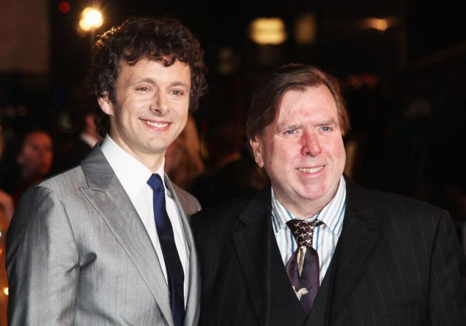 Michael Sheen and Timothy Spall at the premiere of