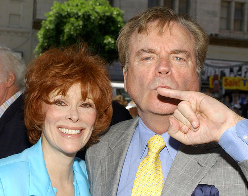 Jill St. John and Robert Wagner at the ceremony honoring actor Robert Wagner with a star on the Hollywood Walk of Fame in California.