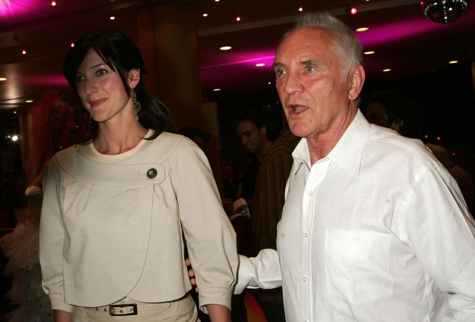 Terence Stamp and his friend at the world premiere of