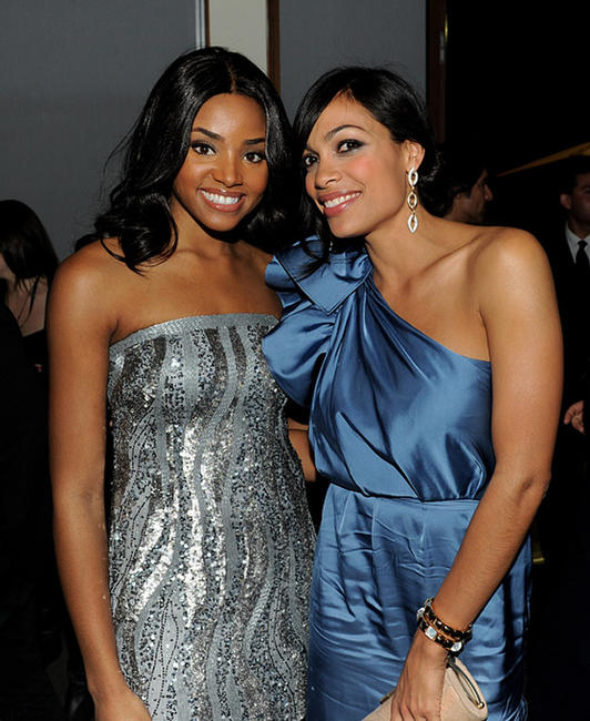 Meagan Tandy and Rosario Dawson at the after party of the California premiere of