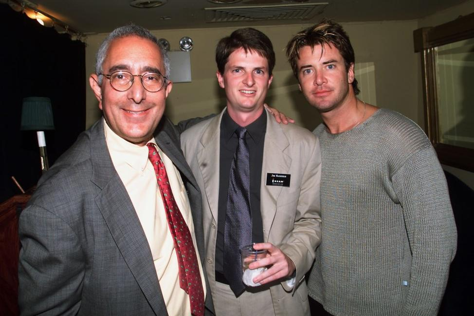 Ben Stein, Jim Mansfield and Jimmy Sommers at the private concert for the launch of iBeam's internet wide deployment of its digital media network.
