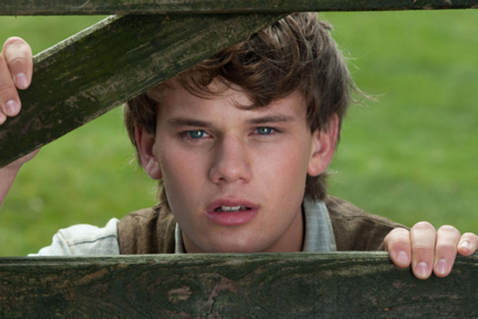 Jeremy Irvine as Albert in ``War Horse.''