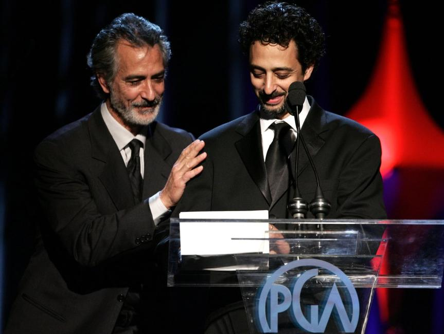 David Strathairn and Grant Heslov at the 2006 Producers Guild awards.