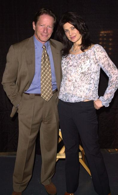 Peter Strauss and Daphne Zuniga at the PAX TV's announcement of the programming schedule for the 2002-2003 season.