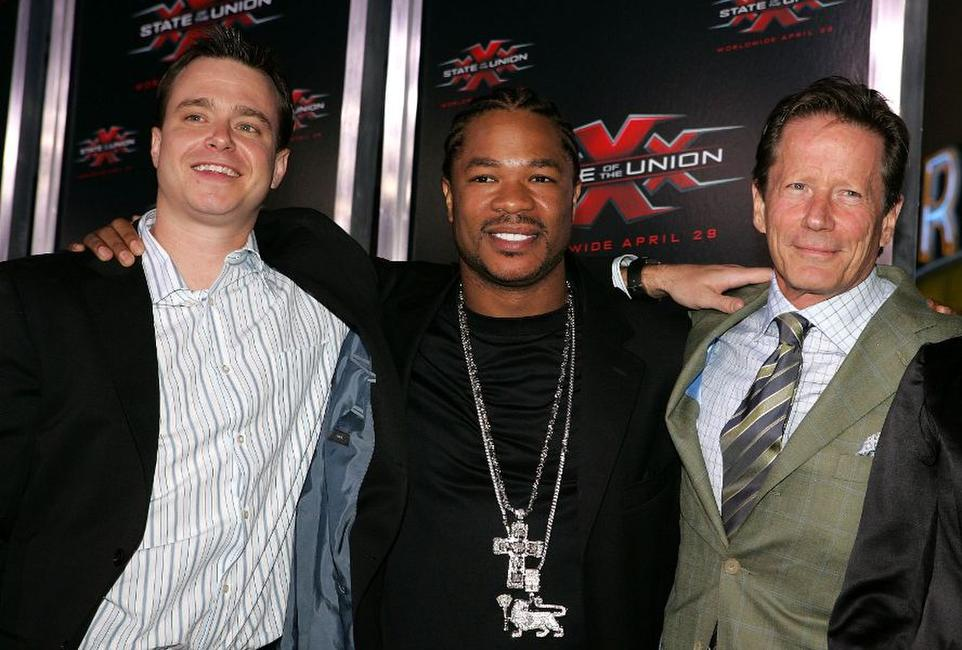 Michael Roof, Xzibit and Peter Strauss at the premiere of