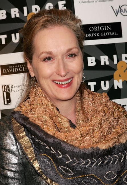 "Meryl Streep at the opening night of ""Bridge & Tunnel"" in New York City."